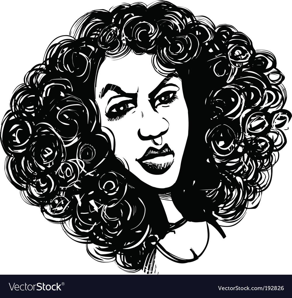 curly hair cartoon