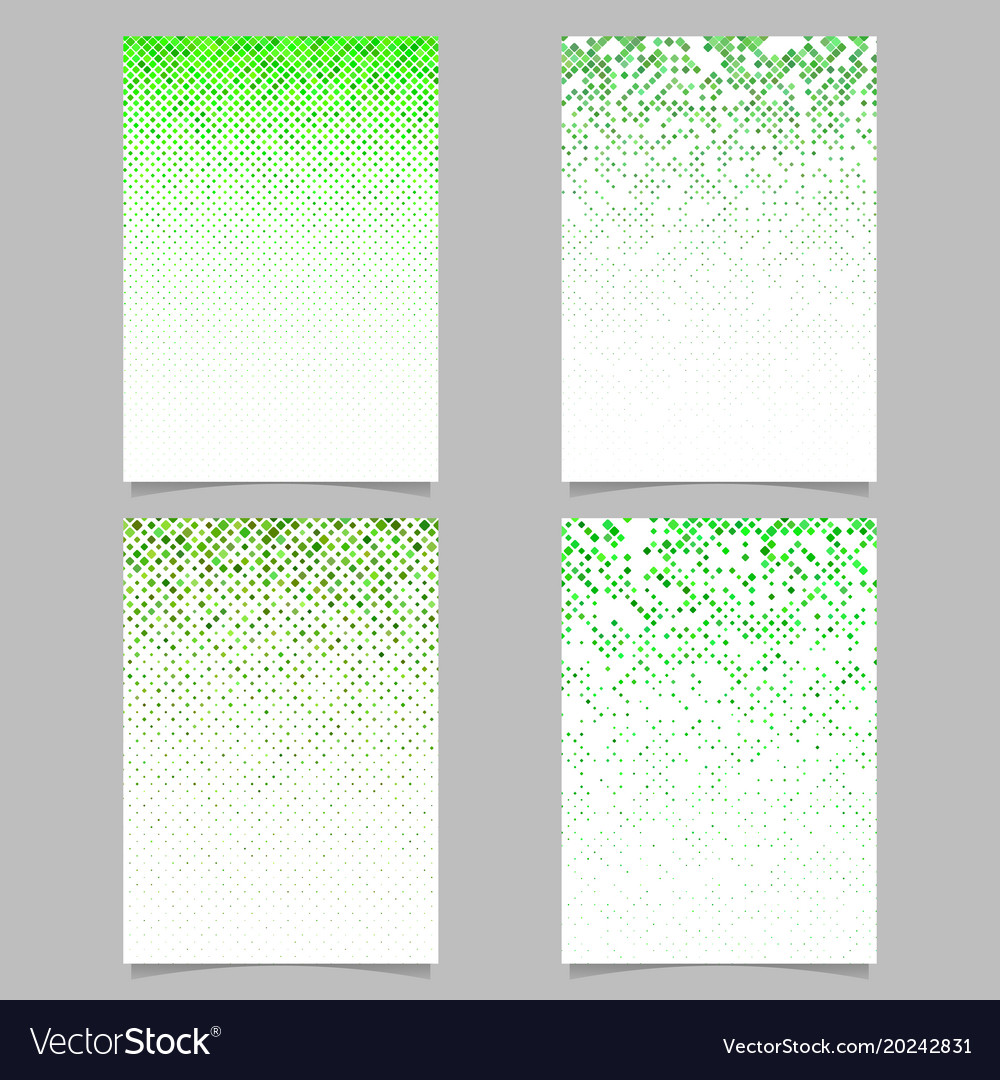 Diagonal square pattern flyer template - mosaic vector image
