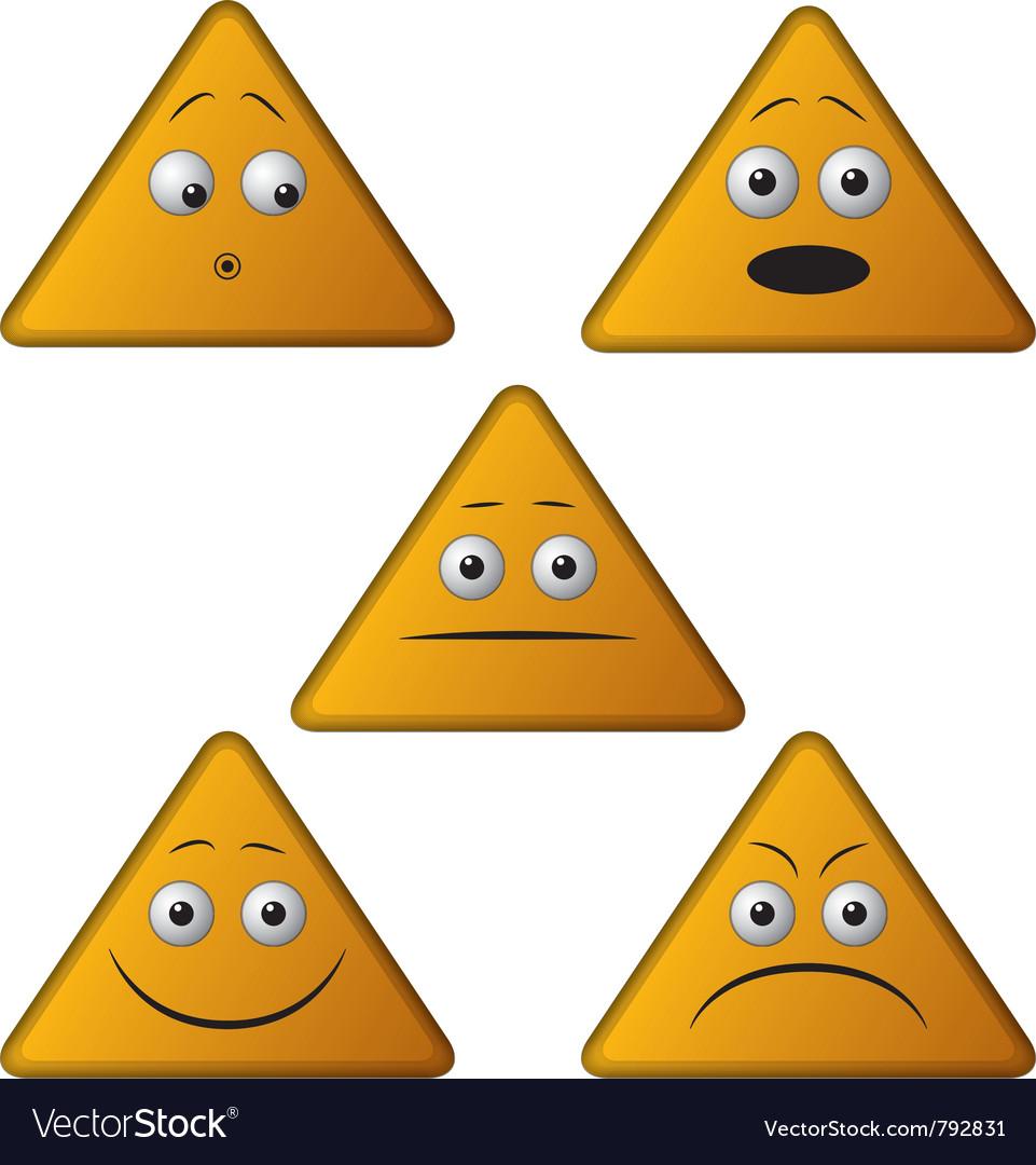 Emoticon triangle vector image