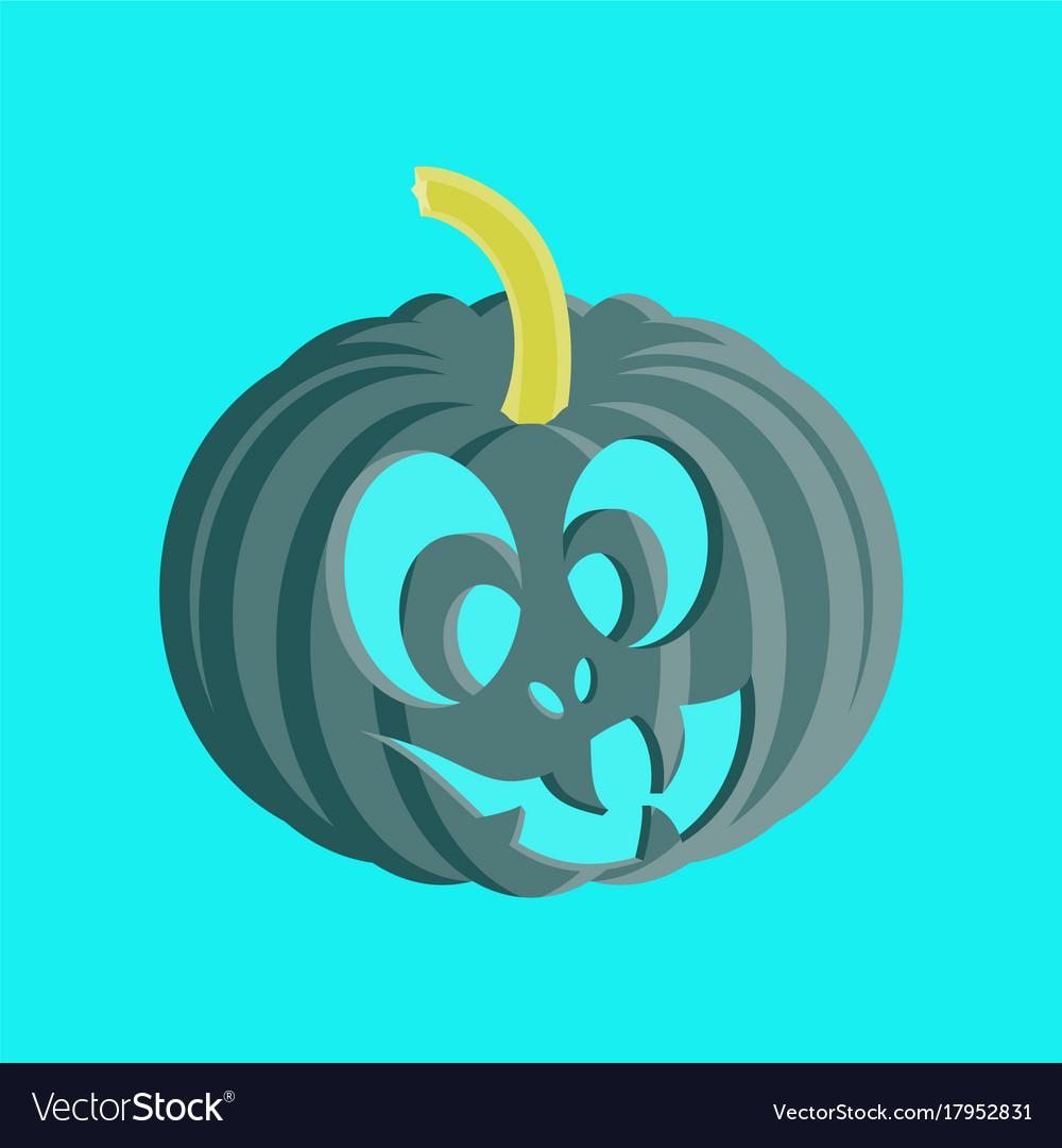 set of halloween scary pumpkins flat style spooky