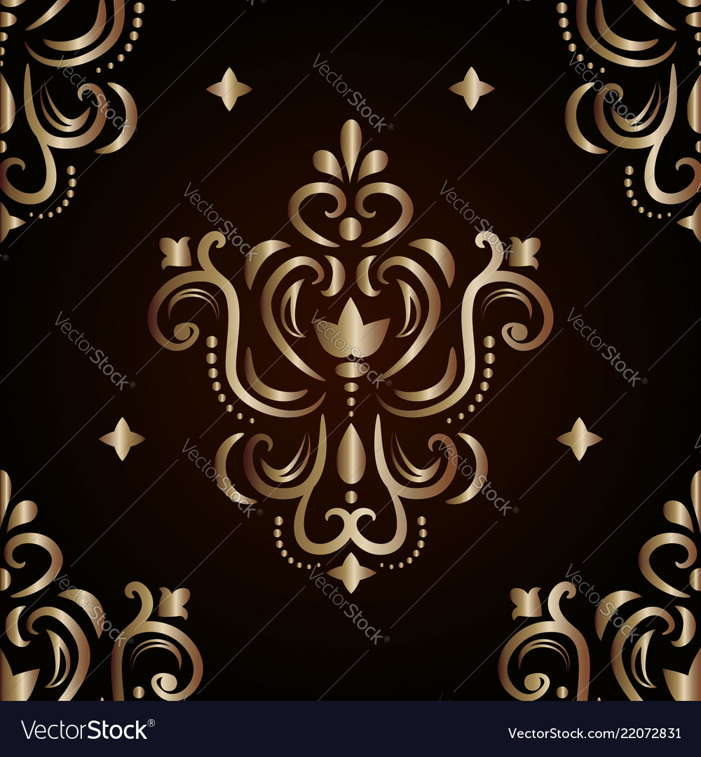 Graphic golden pattern