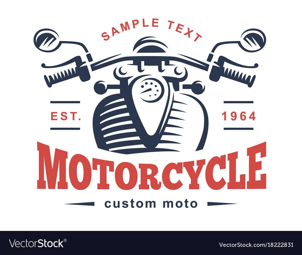 Motorcycle logo vintage emblem