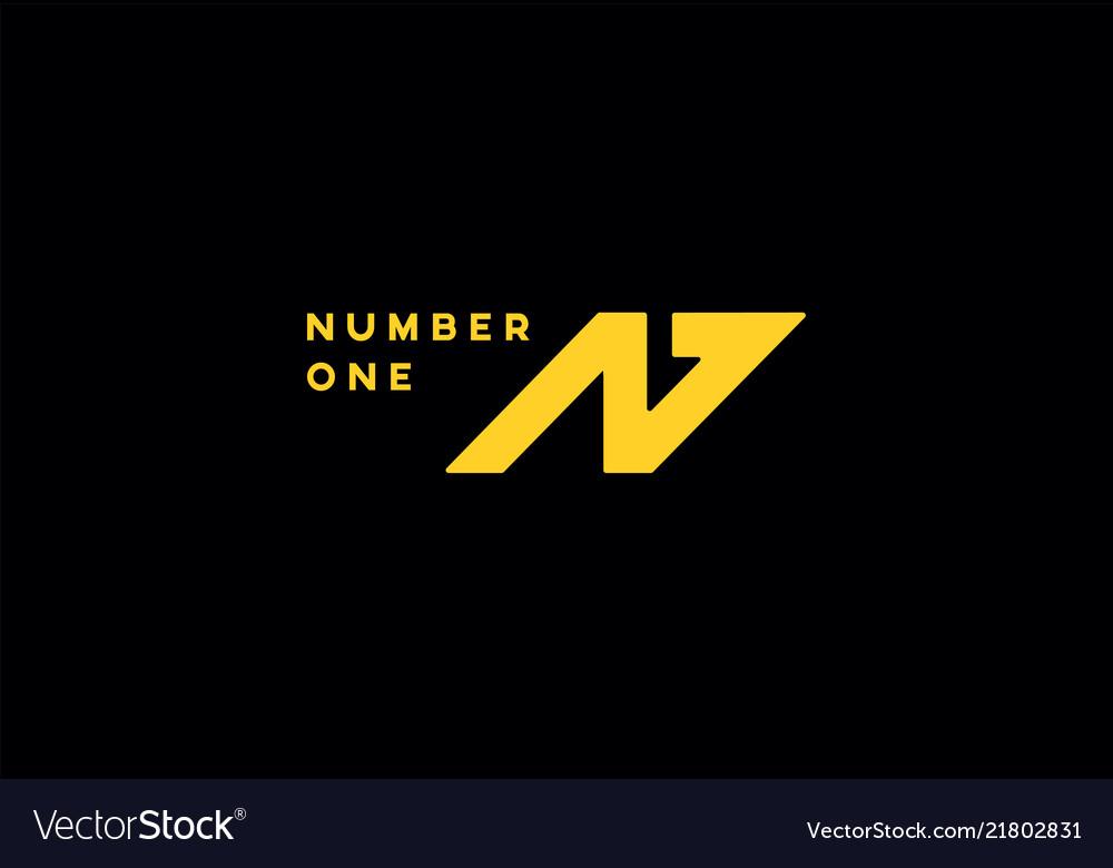 N one geometric design logo symbol