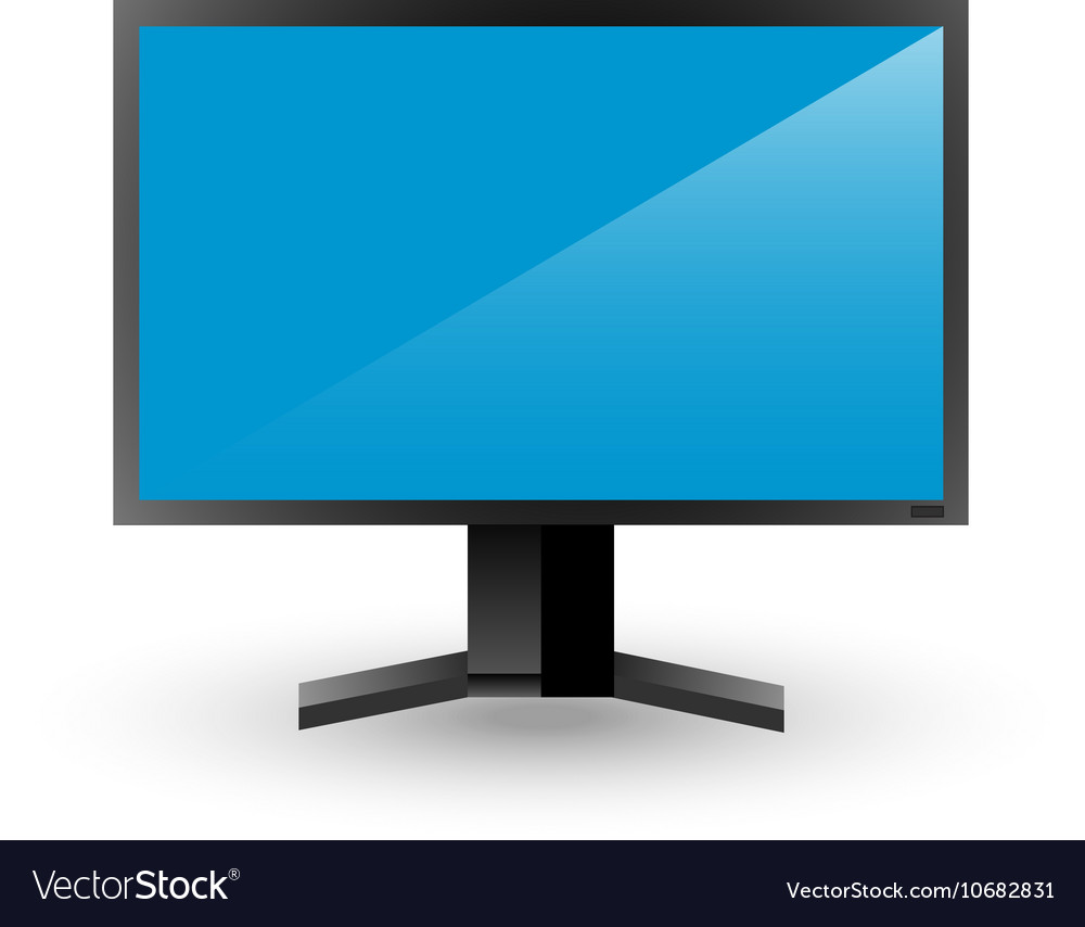 Plasma Tv Or Monitor Royalty Free Vector Image