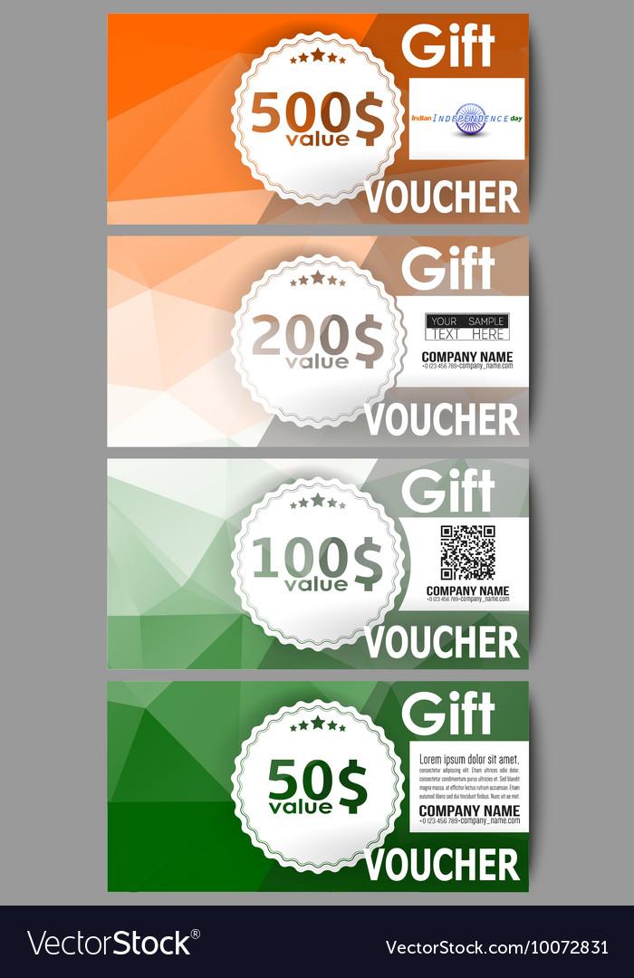 Set of modern gift voucher templates Background vector image