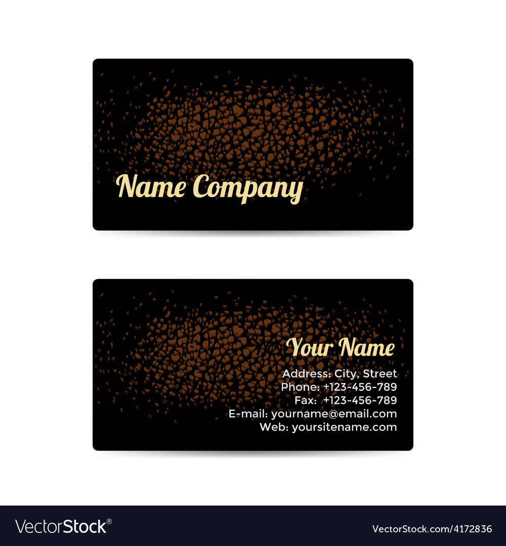 Business Card with Leather Background Royalty Free Vector