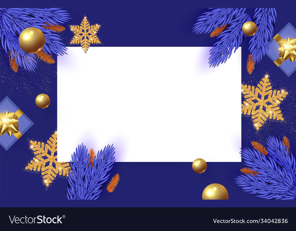 Christmas design template with square paper banner