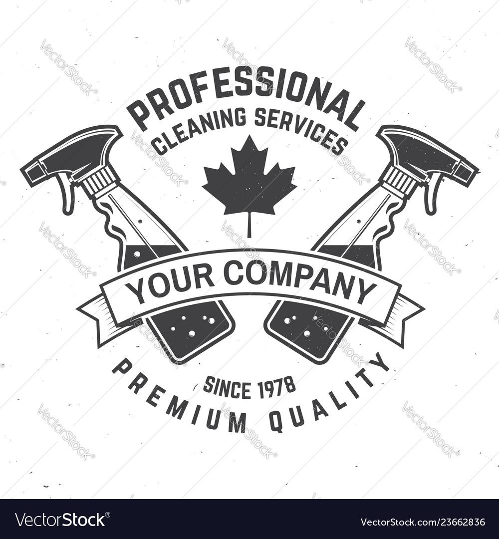Cleaning company badge emblem