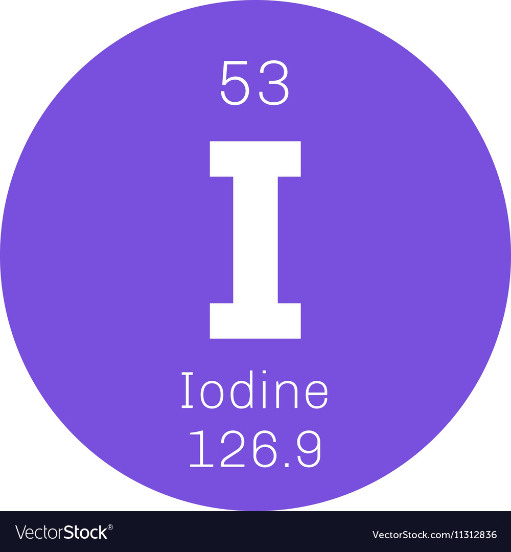 Iodine Chemical Element Royalty Free Vector Image