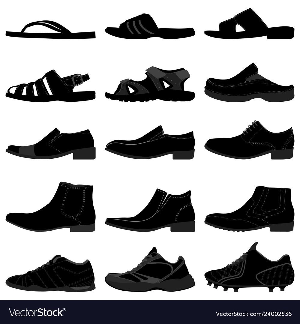 Man male men shoes footwear a set of