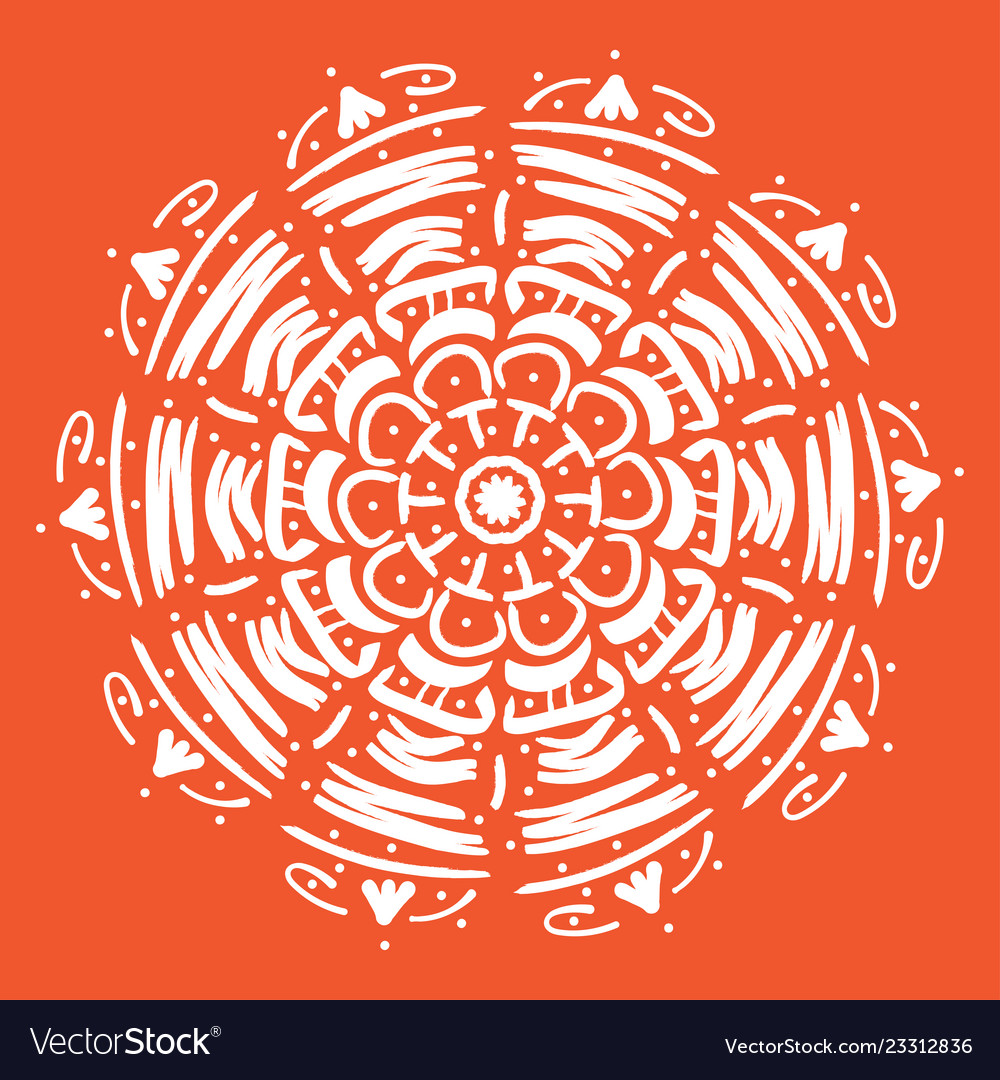 Mandala round abstract floral oriental pattern