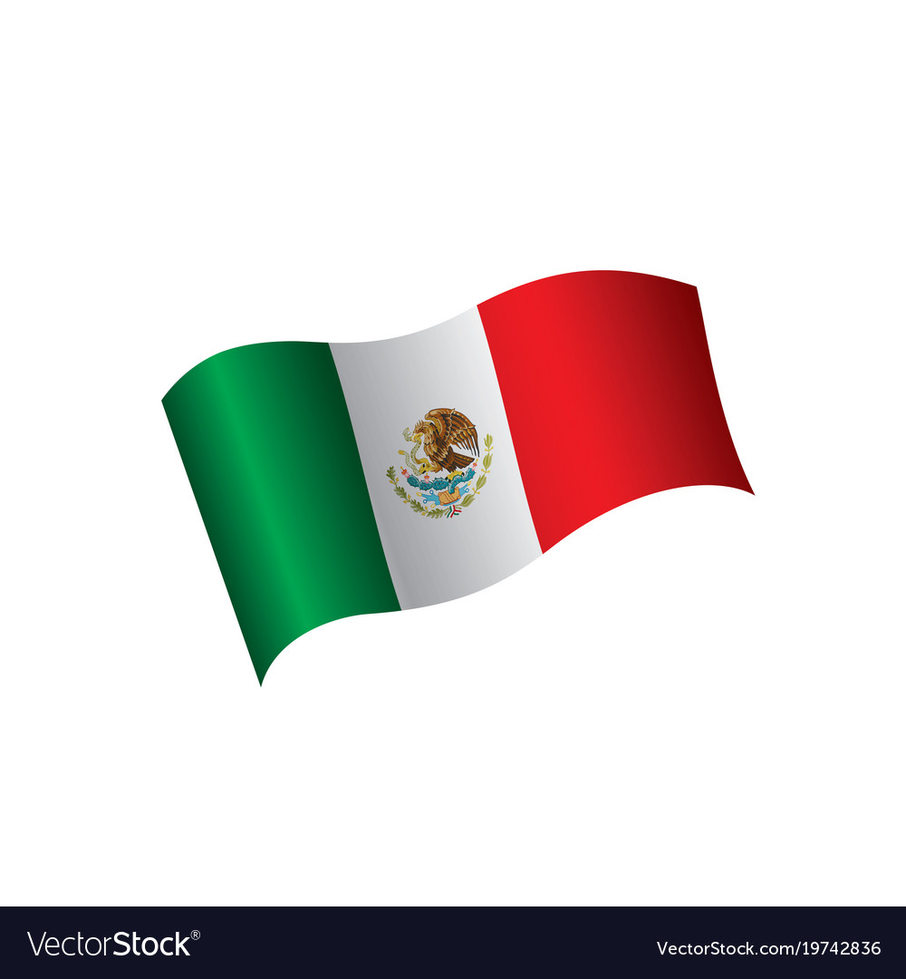 mexican flag royalty free vector image vectorstock rh vectorstock com mexico flag vector mexican flag vector free download