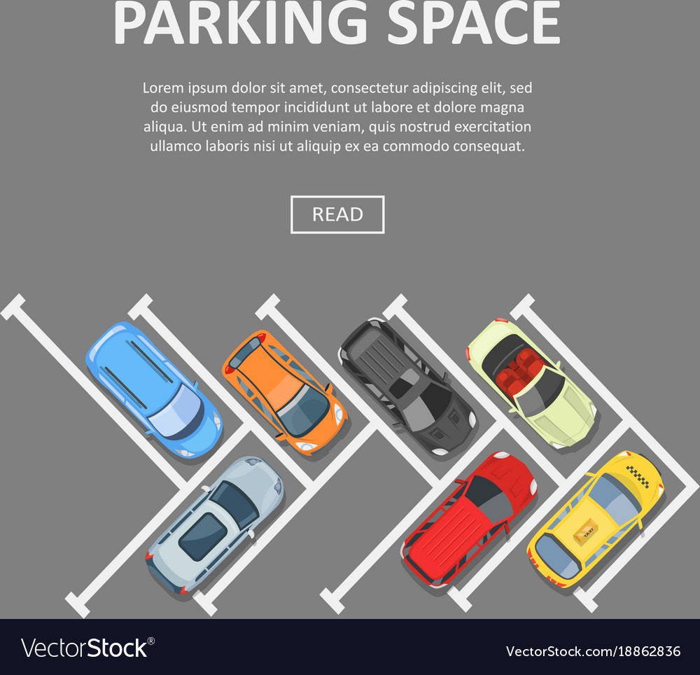 Parking Space Template Royalty Free Vector Image