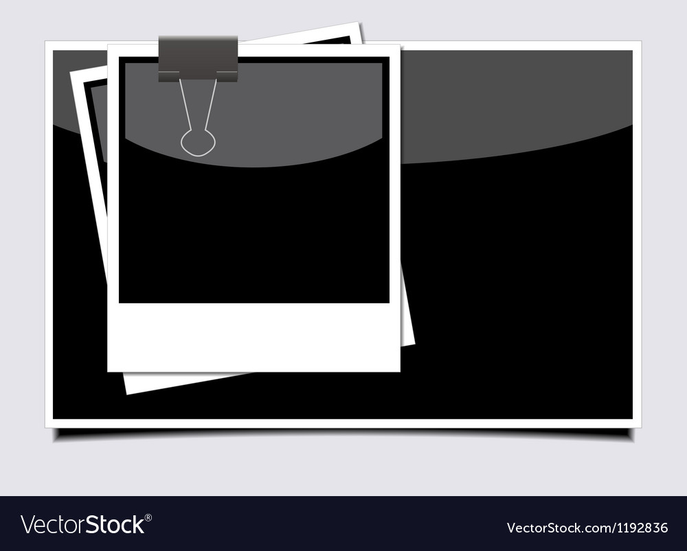 Photo on gray background Eps10 vector image