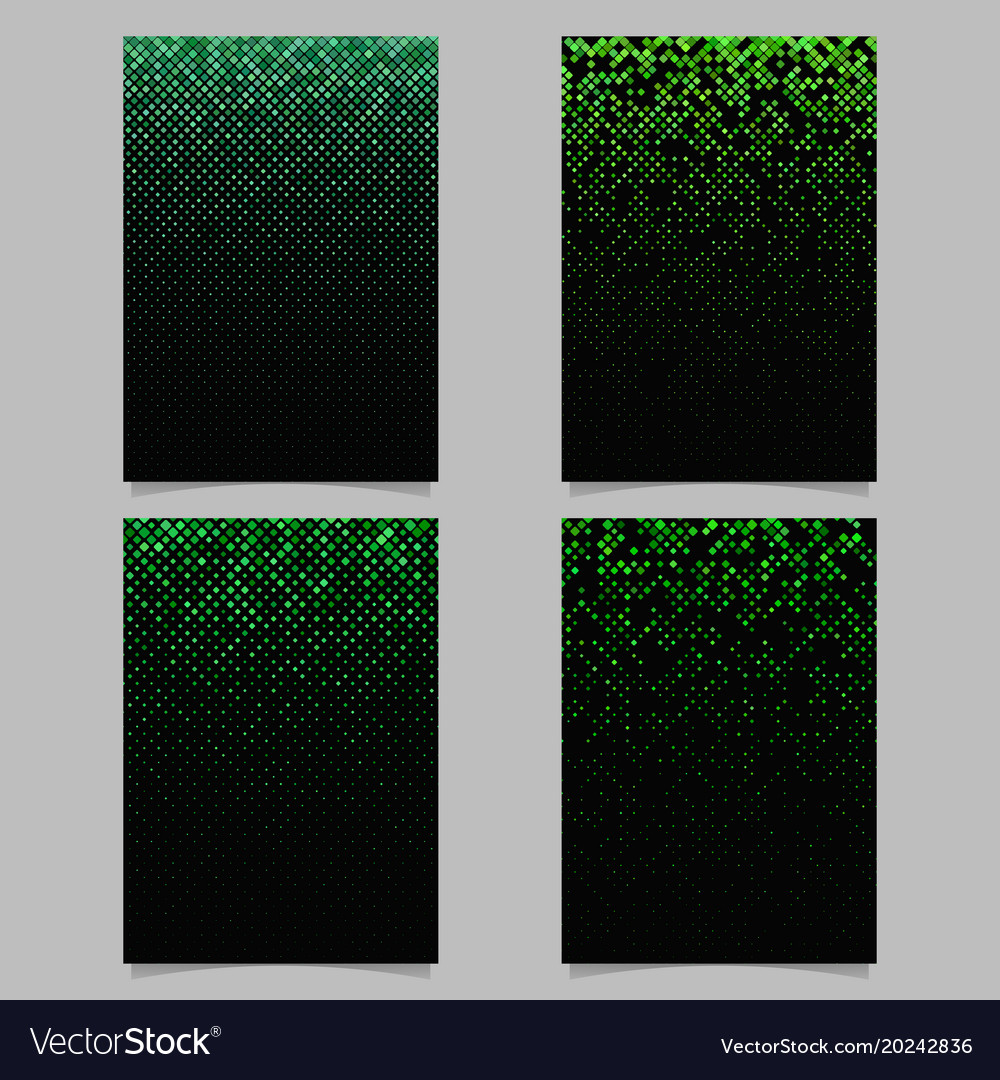 Square pattern brochure template - tile mosaic