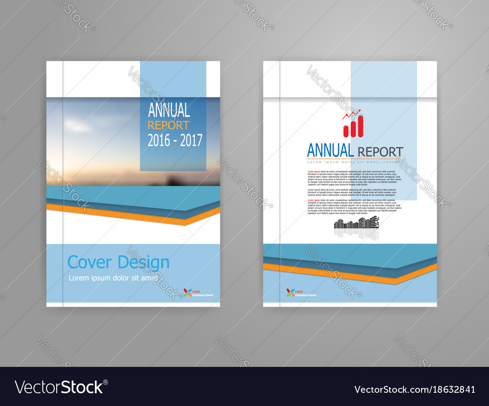 Blue cover annual report brochure