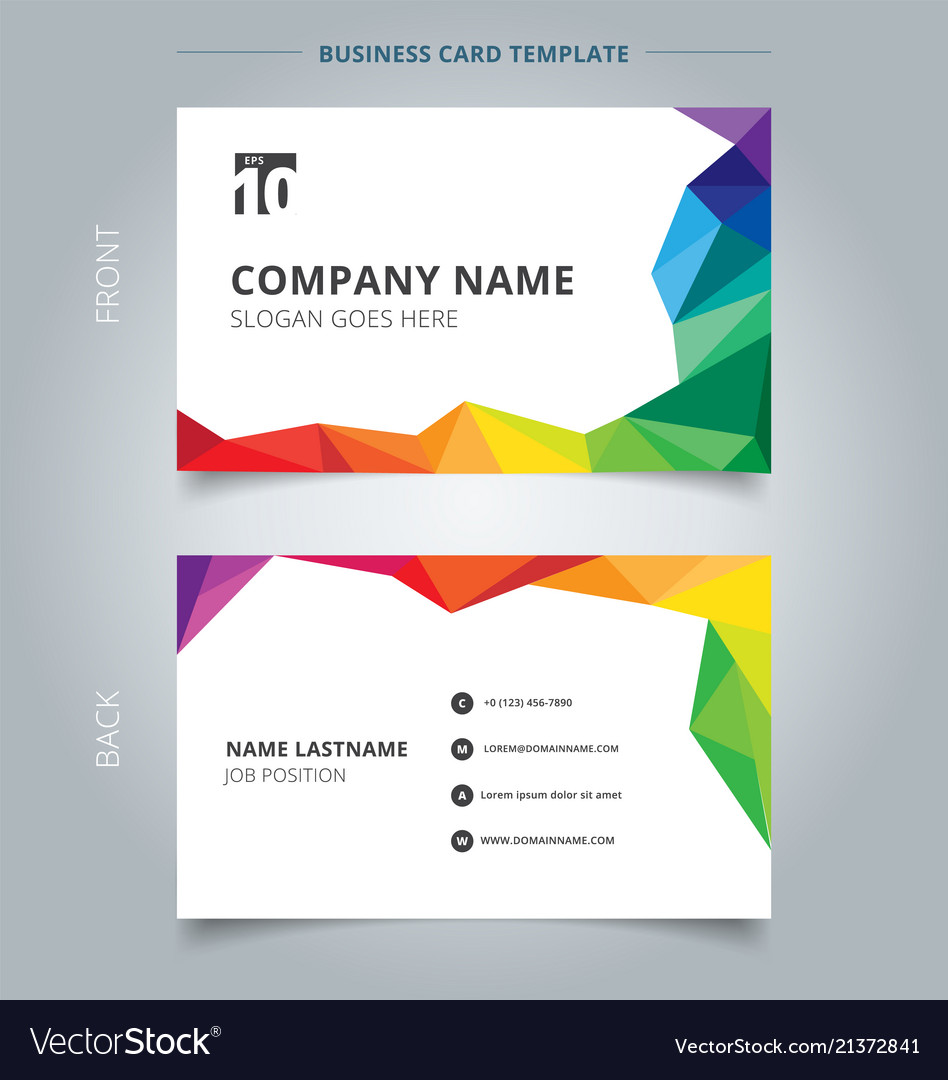 Business name card template design abstract vector image reheart Choice Image