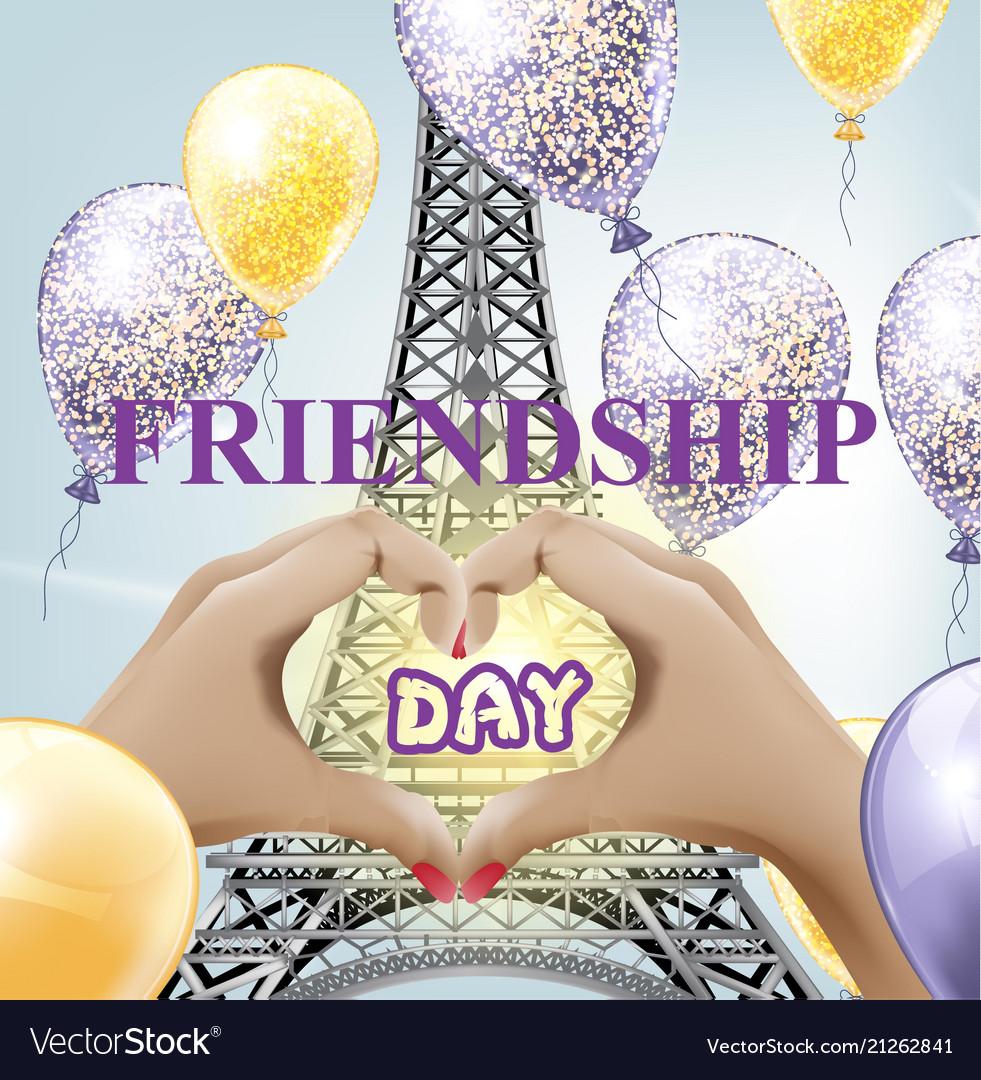 Friendship day eiffel tower love paris