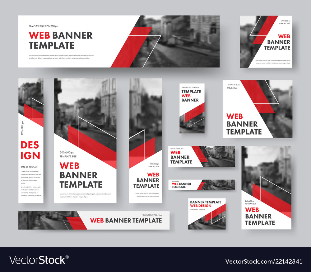 Set of web banners of different sizes with