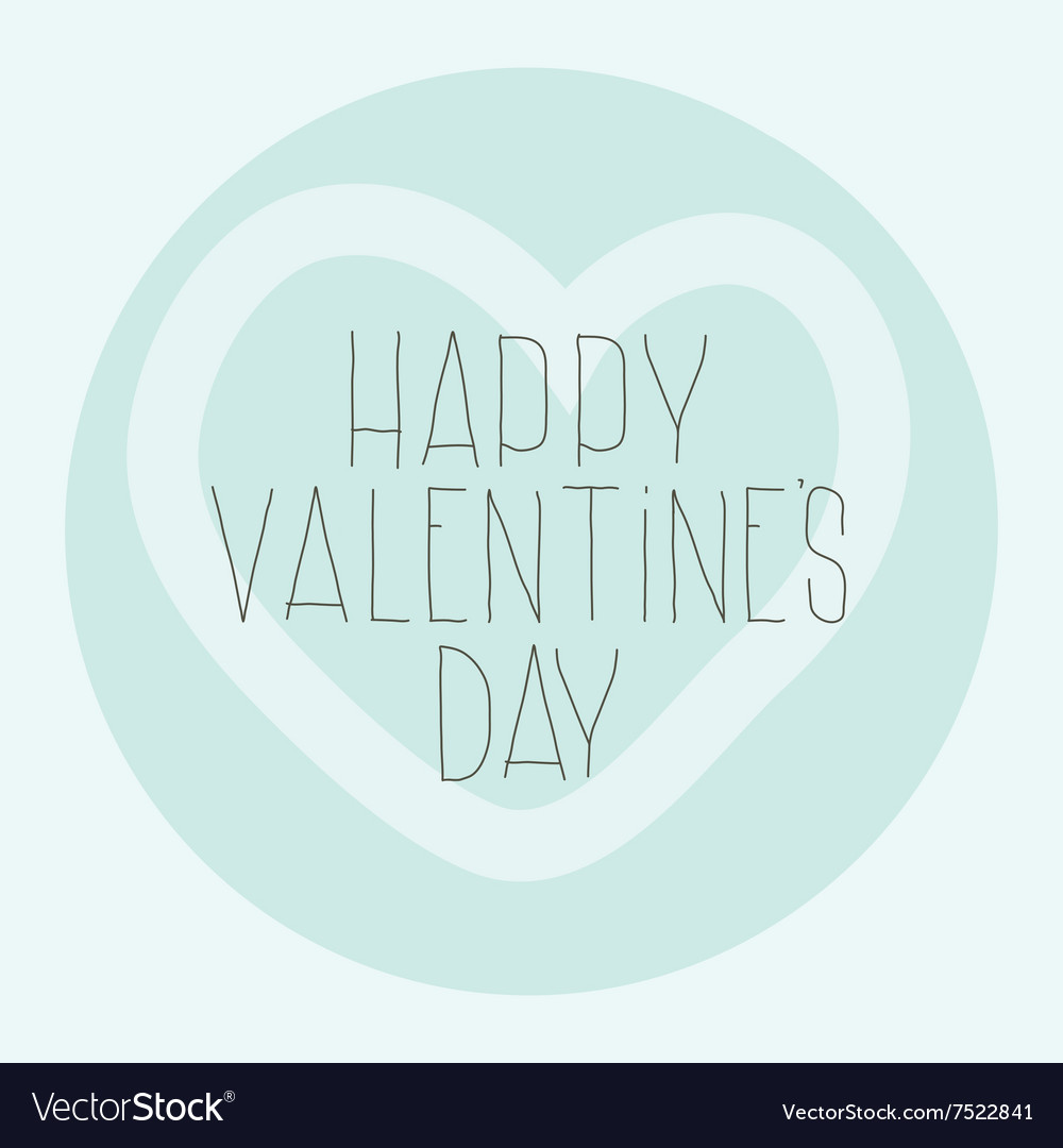 Simple decorative pattern Happy Valentines Day