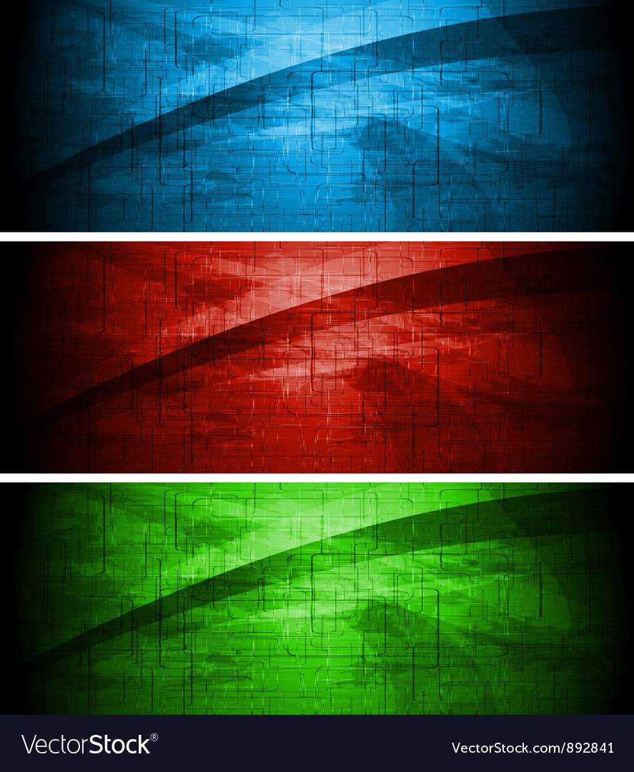Textural banners vector image