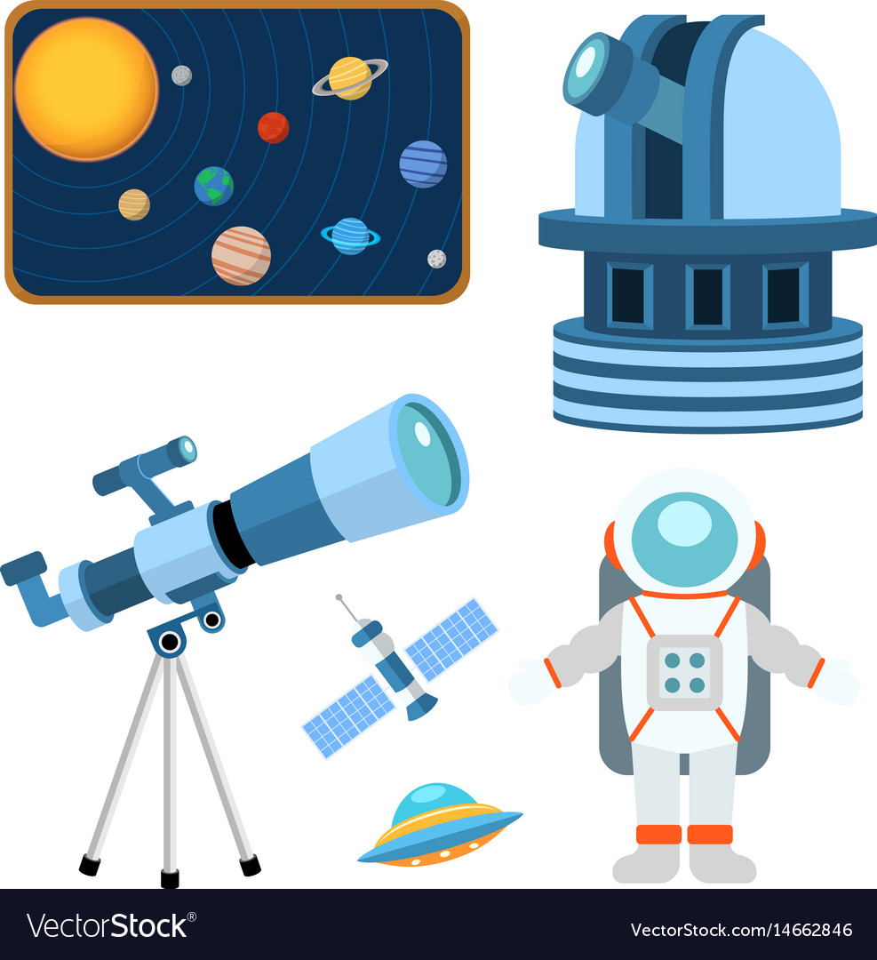 Astrology astronomy icons planet science universe