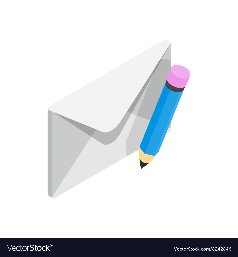 Closed envelope and pencil icon