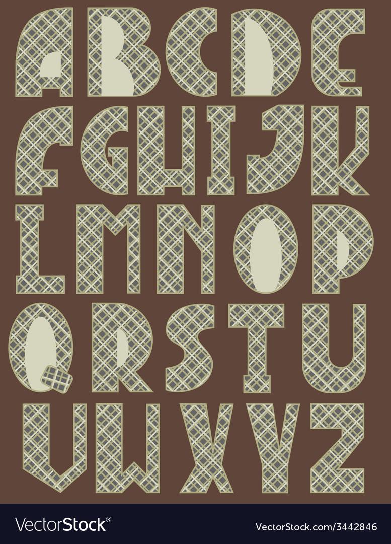 Cross English Alphabet