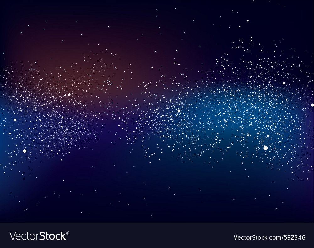 Galactic space scape vector image