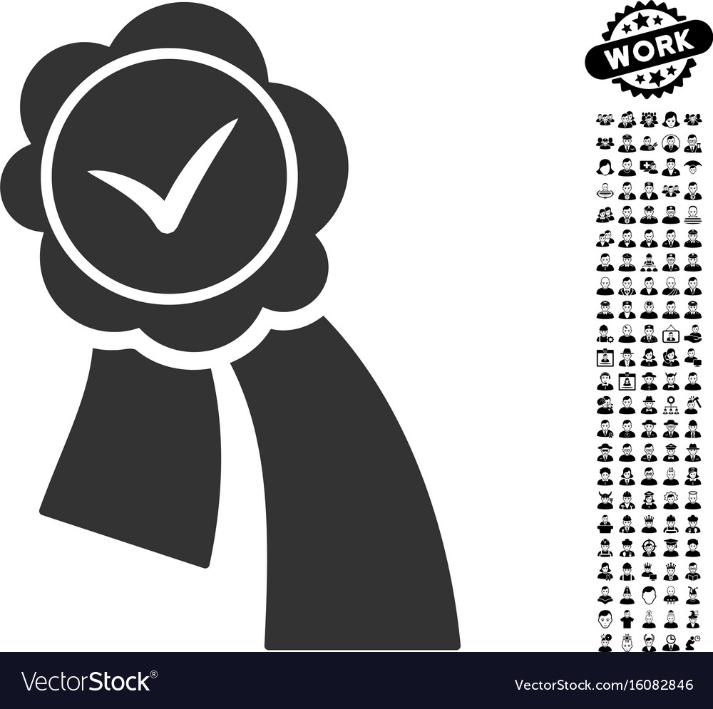 Validation seal icon with professional bonus vector image