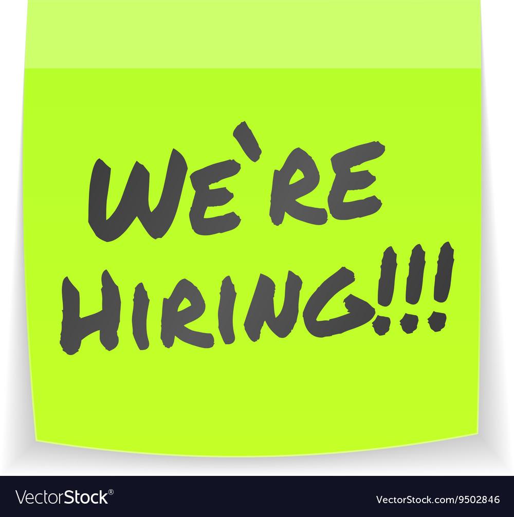 We are hiring sticker