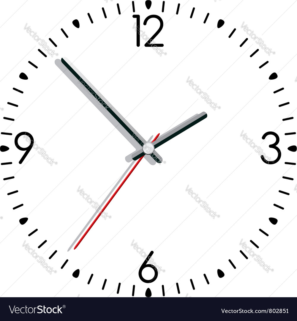 clock vector image Clock Royalty Free Vector Image - VectorStock