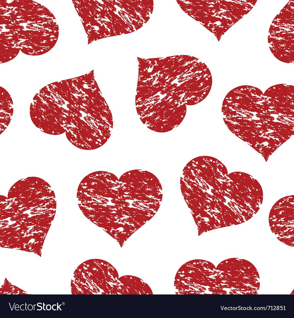 Heart grunge pattern