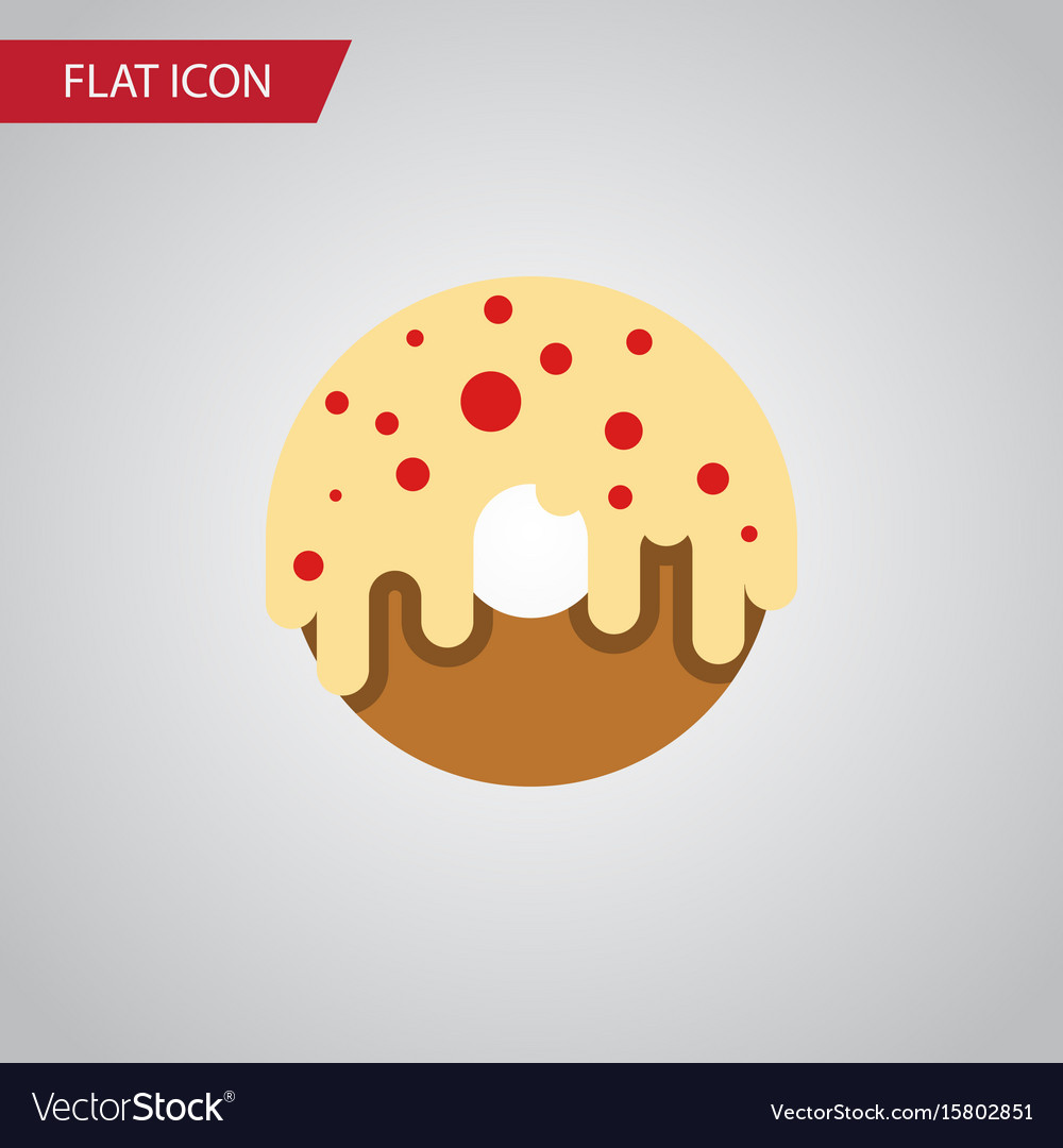 Isolated donuts flat icon doughnut element vector image