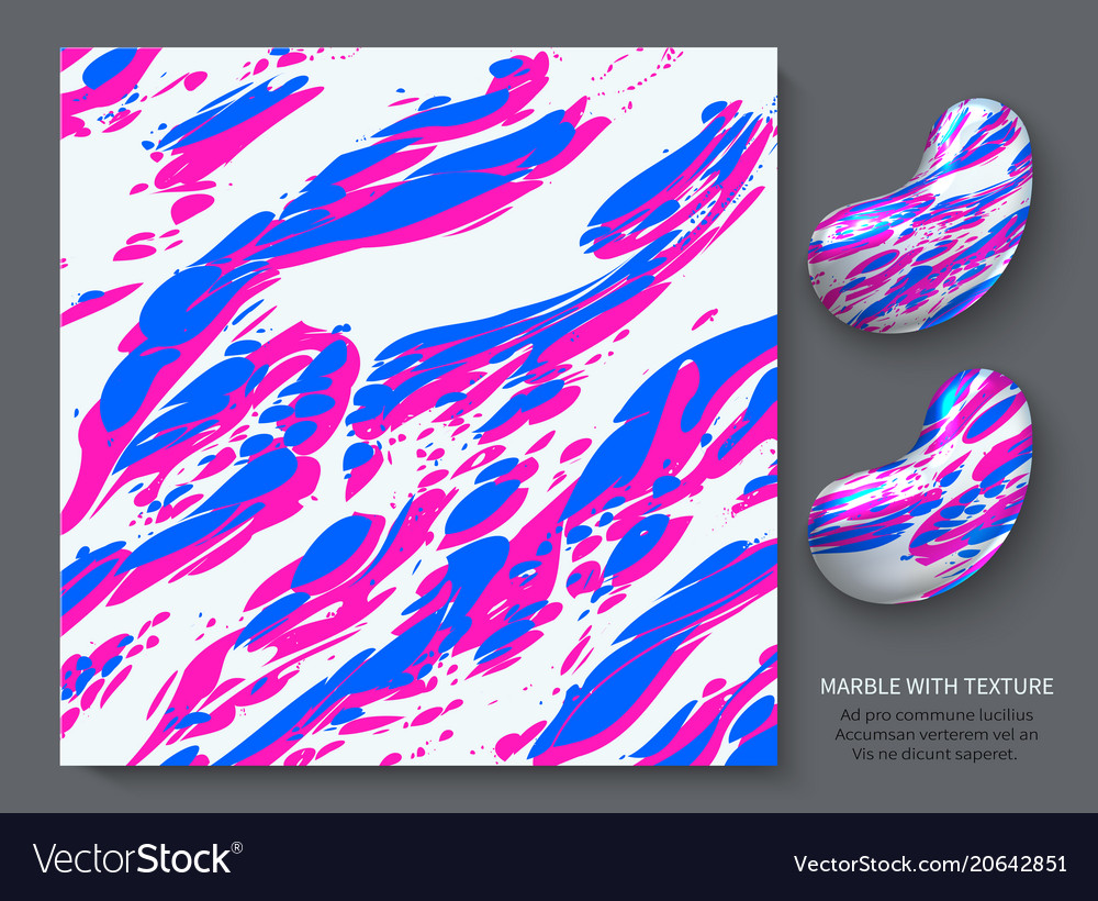 Pink blue marble on a white background stylish