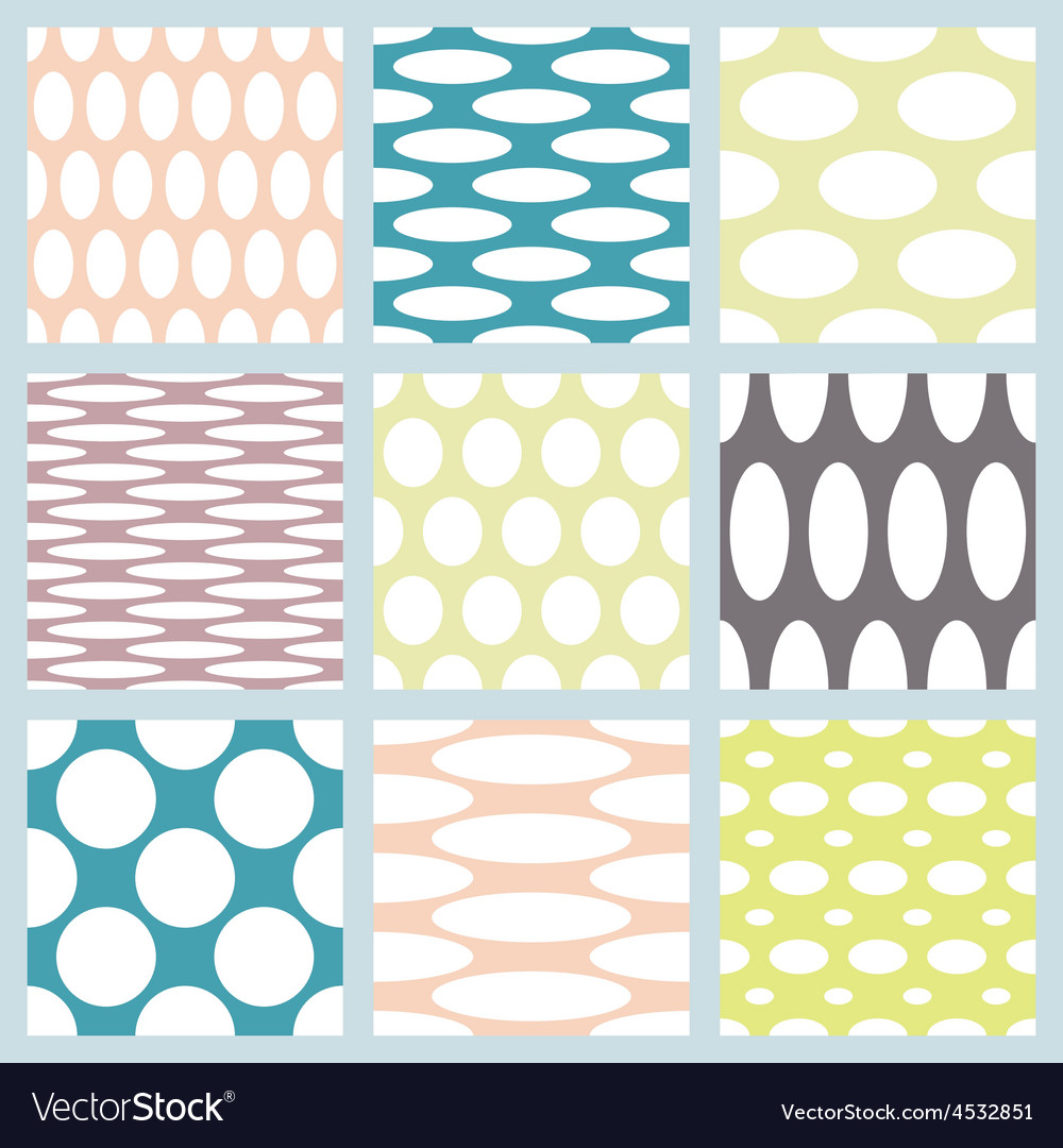 Set of elegant polka dot patterns vector image