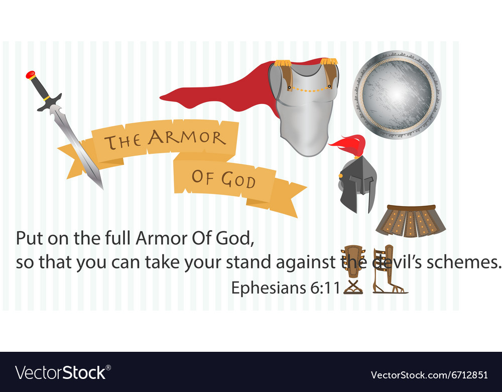 The Armor of God Christianity Love Jesus Christ vector image