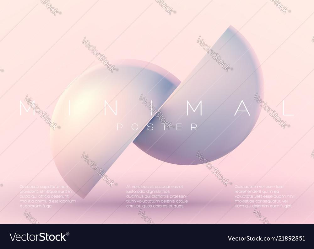 Trendy minimal poster pastel vibrant background