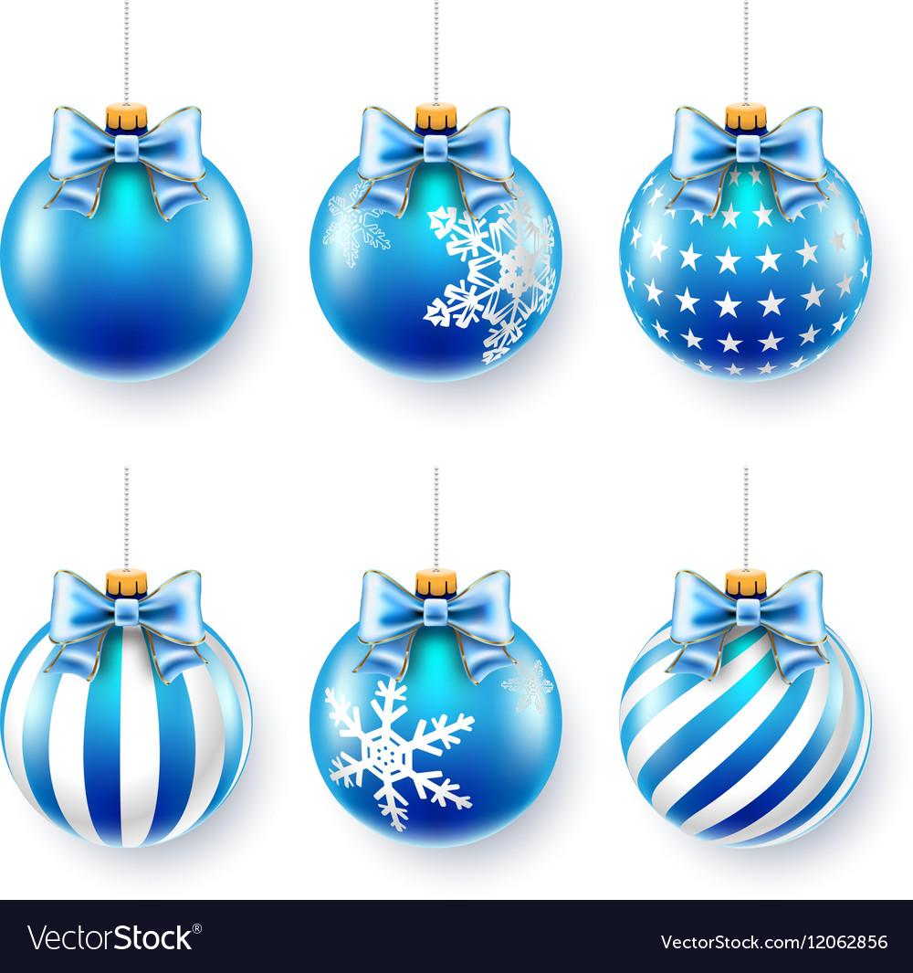 Christmas blue balls set
