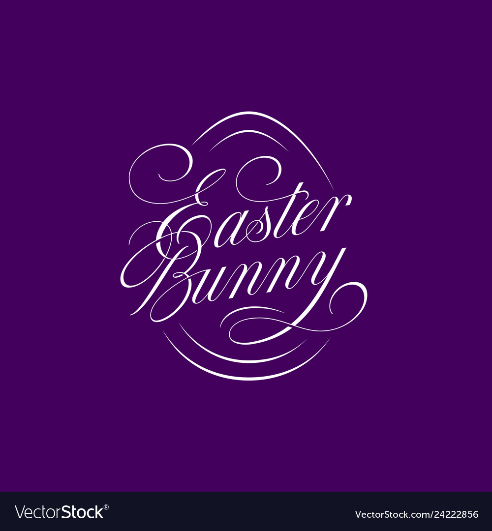 Easter bunny lettering