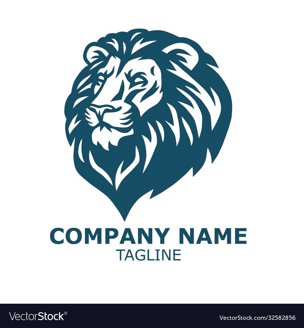Lion head logo sports mascot