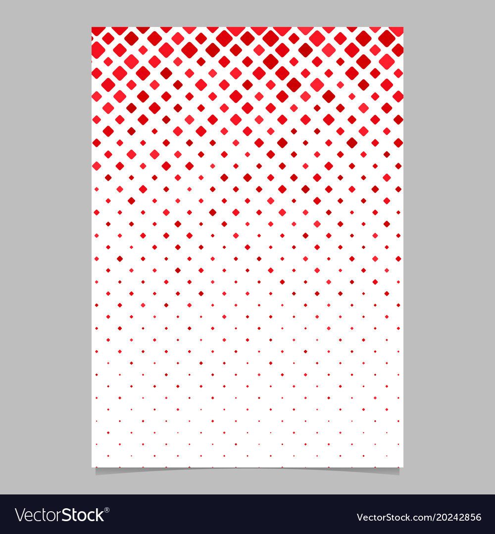 Square pattern flyer template - mosaic page vector image