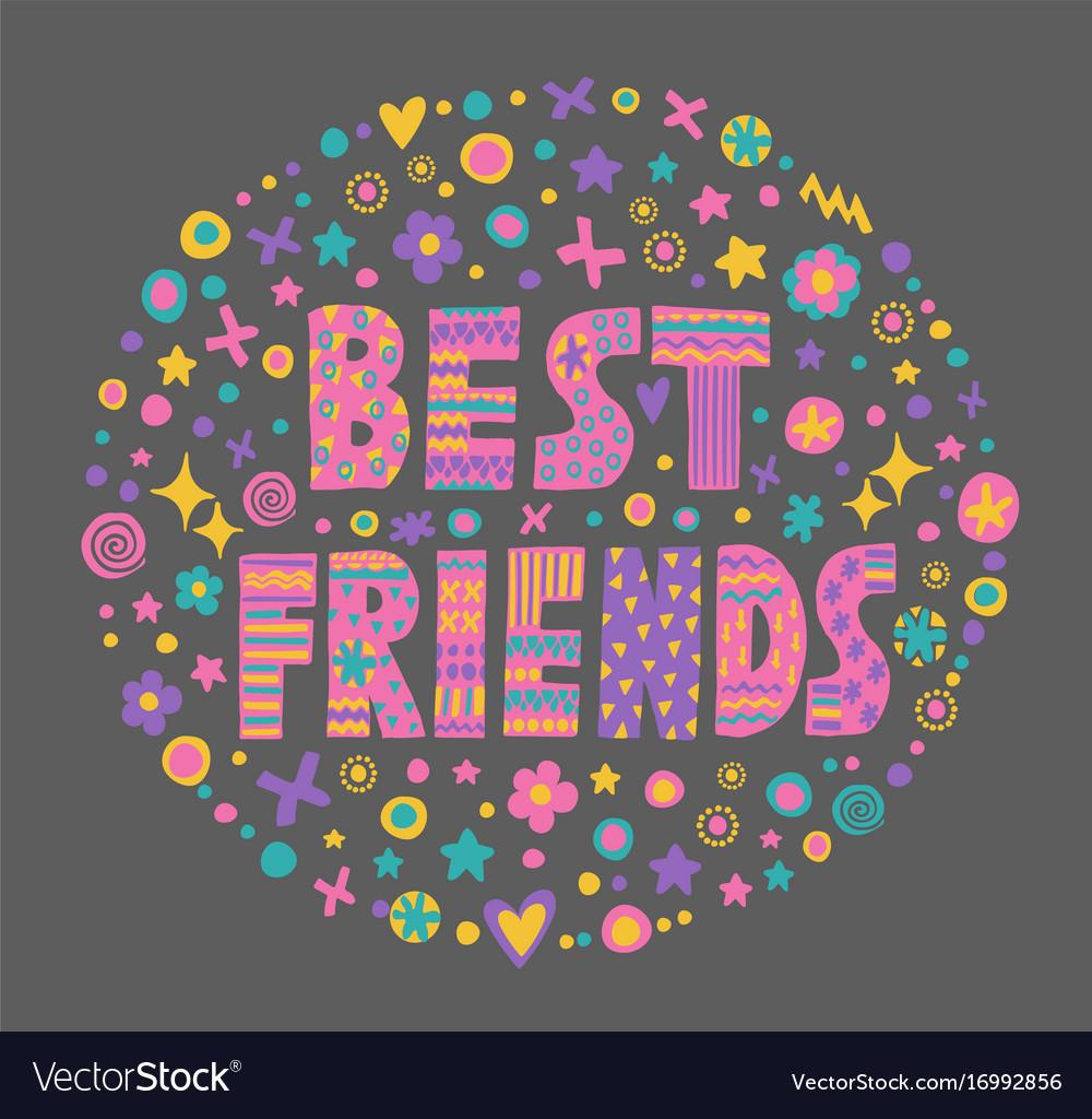 Word Art Best Friends