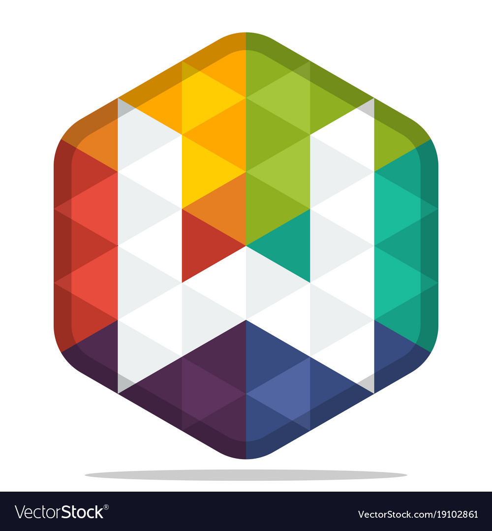 Colorful hexagon logo