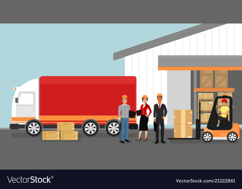 Concept of warehouse with