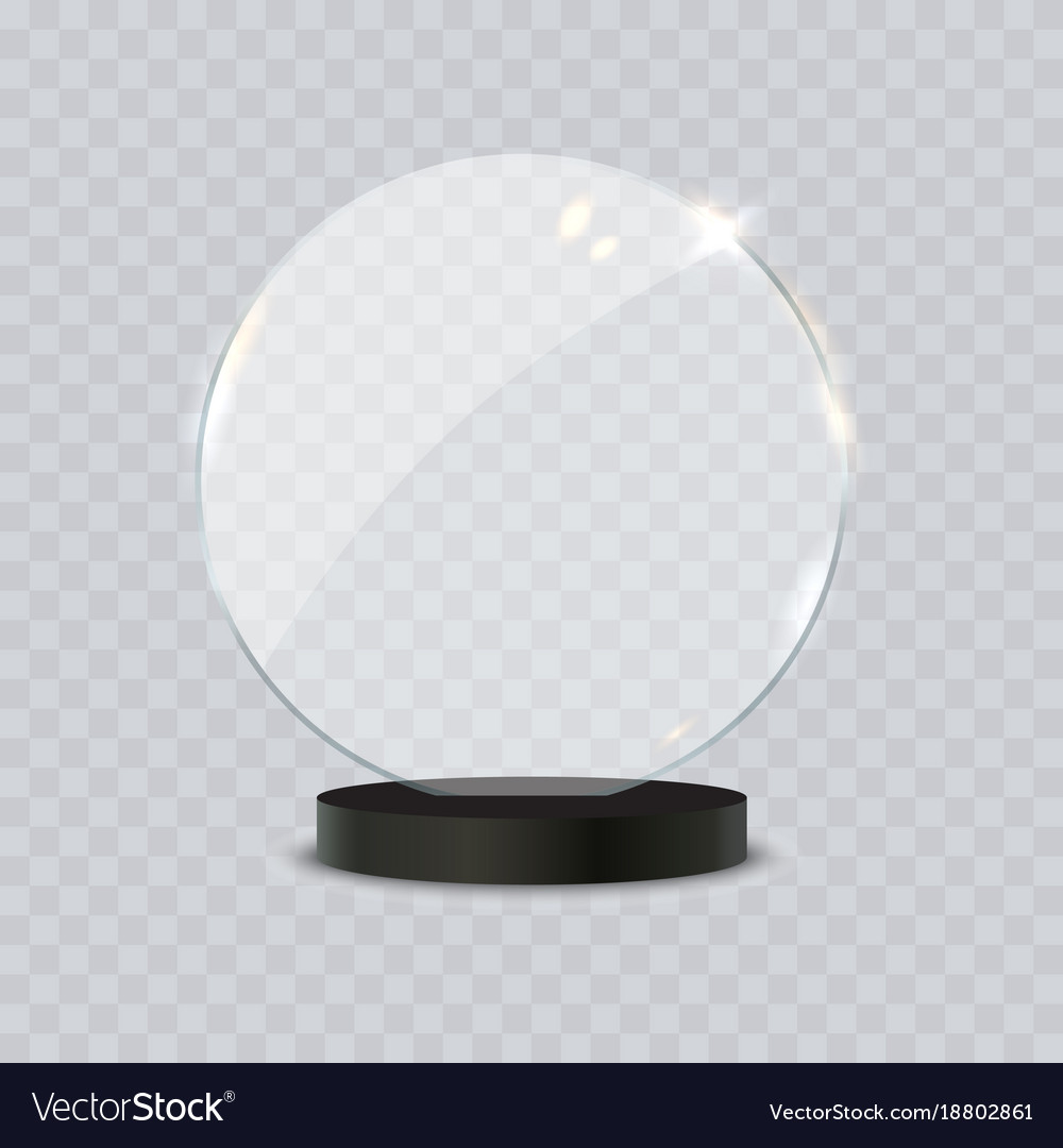 Glass Trophy Award Royalty Free Vector Image