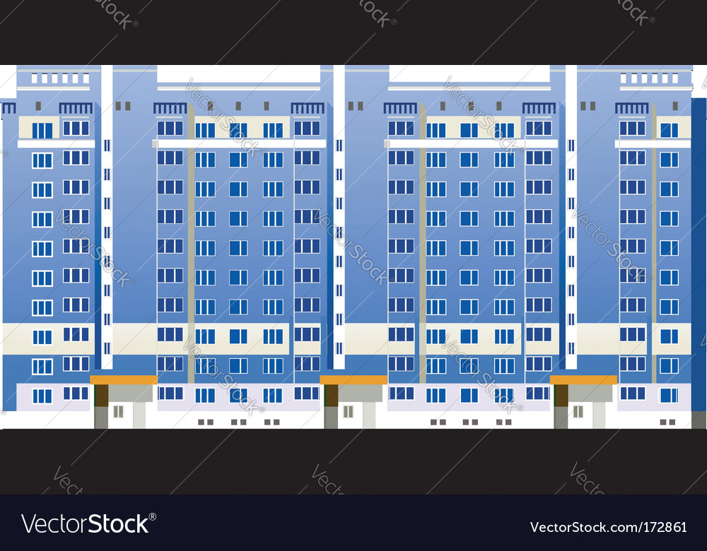 Multistory buildings illustration vector image