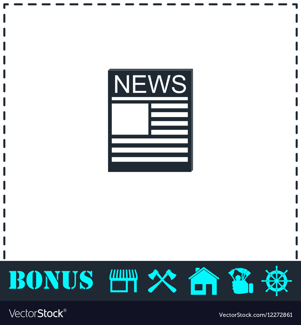 News icon flat vector image
