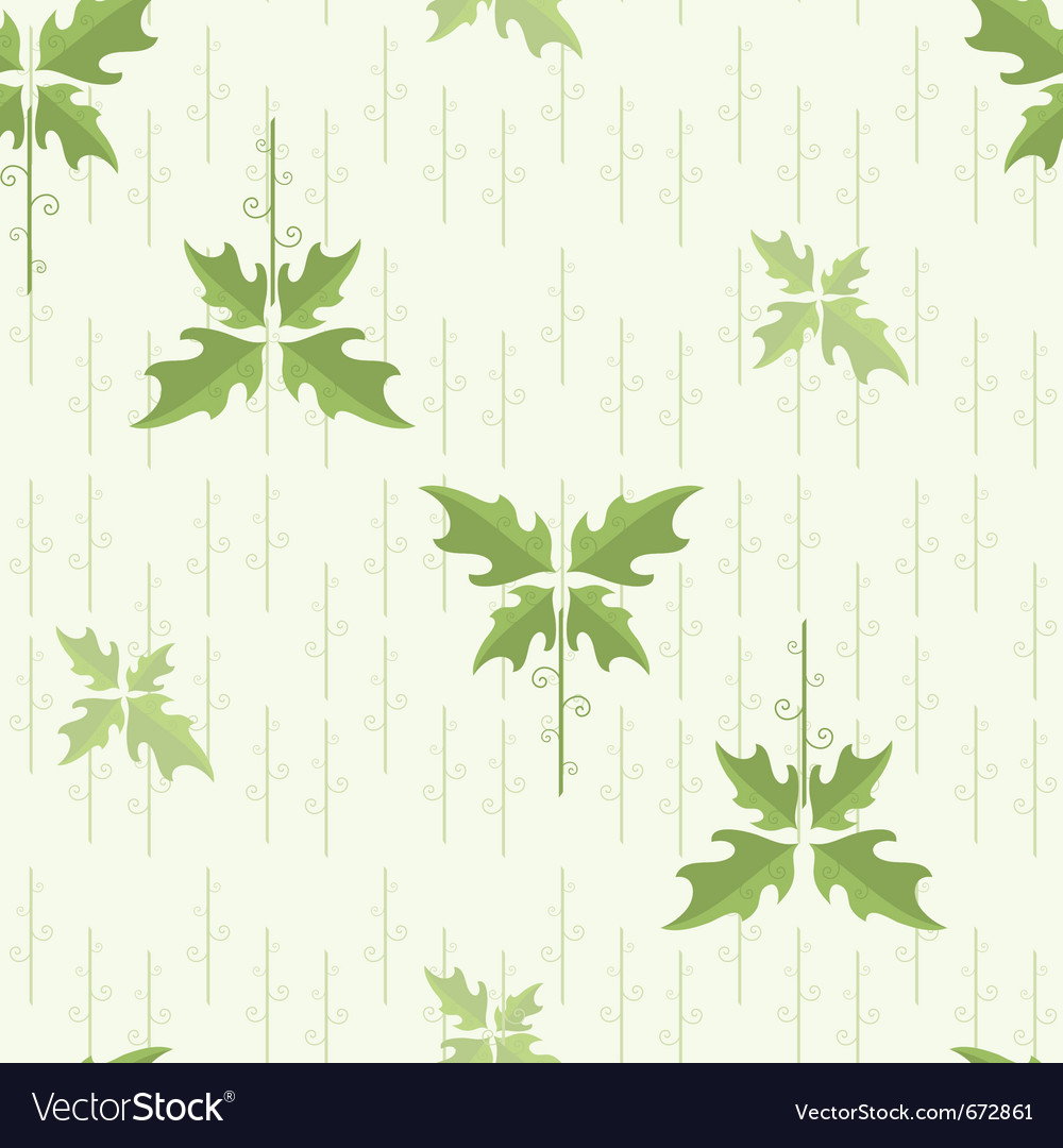 Seamless floral pattern wallpaper with green leave