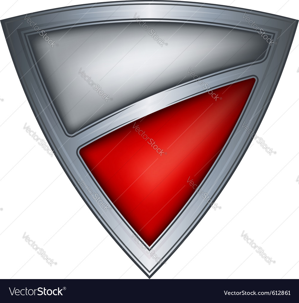Steel shield with flag poland vector image